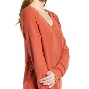 Caslon cozy ribbed vneck BNWT sweater orange XXL